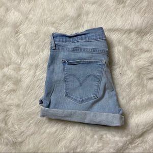 Levi's stretchy cuffed denim shorts